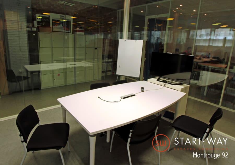 location de salle de réunion Montrouge au sein de l'espace de coworking Start-Way. Salle de formation, meetup, afterworks, creative room
