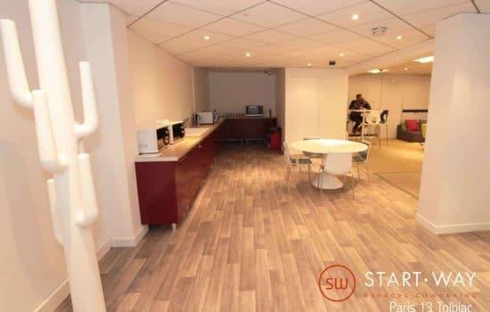 Start-way Tolbiac - Vue de l'espace café - espace de coworking et centre d'affaires à Paris Bureaux et coworking à Paris 13 - 83 avenue d'Italie
