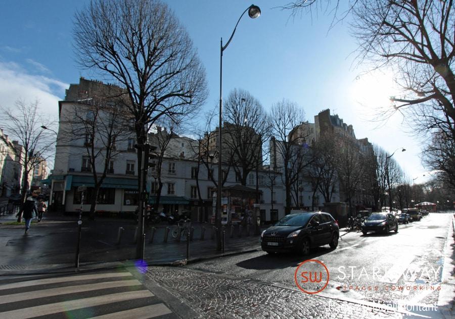 Domiciliation Paris Vue extérieure Start-way - Bureaux et espaces de Coworking à Paris 20 Ménilmontant