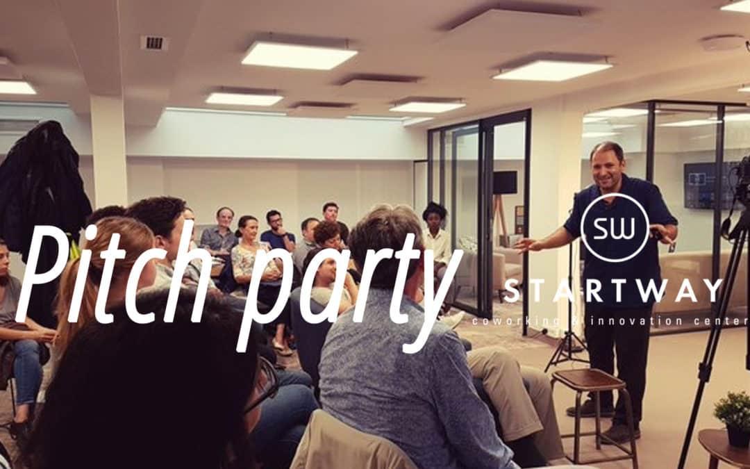 Pitch party pour startup freelance salariés entrepreneurs à l'espace de coworking Paris 8