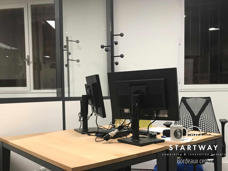 Bureau à louer à l'espace de coworking de Bordeaux