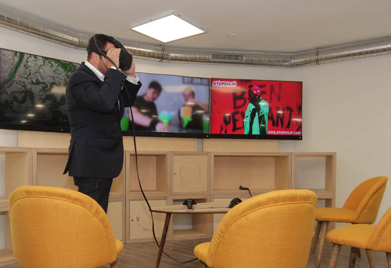 Espace de réunion avec réalité virtuelle à Paris
