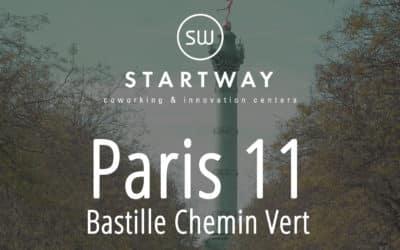 Startway ouvre son 25ème espace de coworking à Paris 11 Bastille