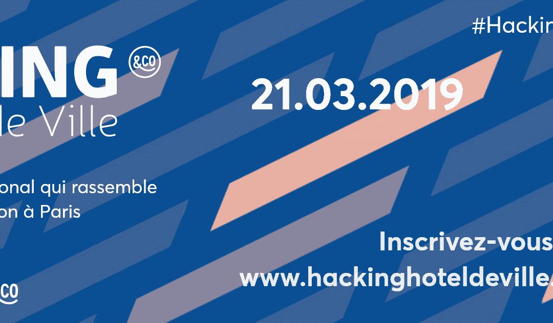 Startway partenaire du hacking de la ville de Paris 2019. Un présence avec son écosystème pour présenter ses services d'accompagnement pour Startups et grands Groupes