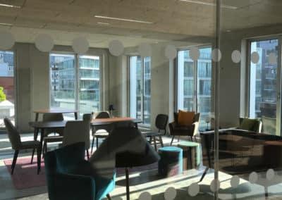 Vue sur la creative room (salle de créativité) de Paris 18