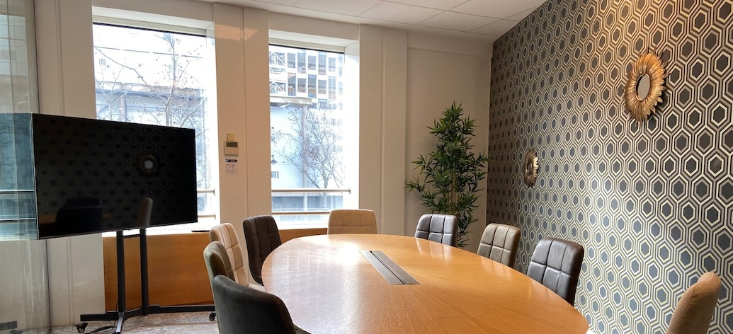 Salle de réunion à Paris quartier d'affaires